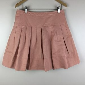 Peach Pink Medium Pleated Flare Skirt